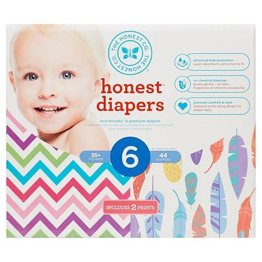 Buy Honest Company, Club Pack DiapersChevron + Feathers - Size 6 (44 ct) at Herbal Bless Supplement Store