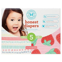 Buy Honest Company, Club Pack DiapersPastel Tribal + Strawberries - Size 5 (50 ct) at Herbal Bless Supplement Store