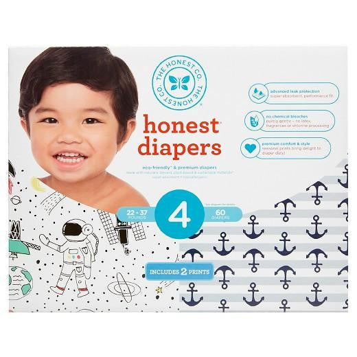 Buy Honest Company, Club Pack DiapersSpace + Anchors & Stripes - Size 4 (60 ct) at Herbal Bless Supplement Store
