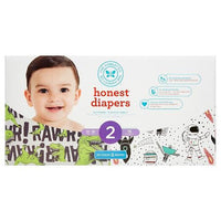 Buy Honest Company, Club Pack DiapersT-Rex + Space Travel - Size 2 (76ct) at Herbal Bless Supplement Store