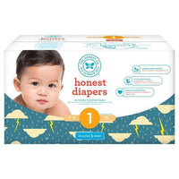 Buy Honest Company, Club Pack DiapersThunderclouds - Size 1 (80 ct) at Herbal Bless Supplement Store