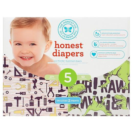 Buy Honest Company, Club Pack DiapersWorkshop + T-Rex - Size 5 (50 ct) at Herbal Bless Supplement Store