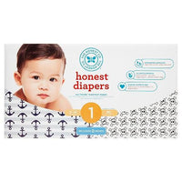 Buy Honest Company, Diapers Club Box-Anchors & Stripes/Skulls - Size 1 (80 ct) at Herbal Bless Supplement Store