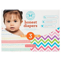 Buy Honest Company, Diapers Club Box-Pastel Tribal/Chevron - Size 3 (68 ct) at Herbal Bless Supplement Store