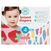 Buy Honest Company, Diapers Club Box Strawberries and Painted Feathers - Size 4 (60 ct) at Herbal Bless Supplement Store