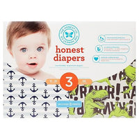 Buy Honest Company, Diapers Club Box-T-Rex and Anchors & Stripes - Size 3 (68 ct) at Herbal Bless Supplement Store