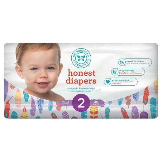 Buy Honest Company, DiapersPainted Feathers (Select Size) at Herbal Bless Supplement Store