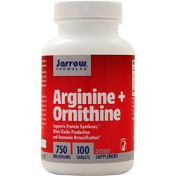 Buy Jarrow, Arginine plus Ornithine, 100 tabs at Herbal Bless Supplement Store