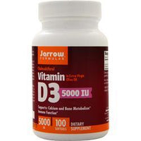 Buy Jarrow, Vitamin D3 (5000IU), 100 sgels at Herbal Bless Supplement Store