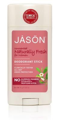 Buy Jason Natural, Deodorant For Women Stick Unscented, 2.5 oz at Herbal Bless Supplement Store