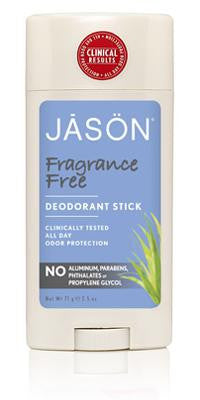 Buy Jason Natural, Deodorant Fragrance Free Stick, 2.5 oz at Herbal Bless Supplement Store
