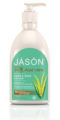 Buy Jason Natural, Hand & Body Lotion 70% Aloe Vera, 16 oz at Herbal Bless Supplement Store