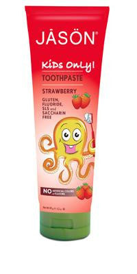 Buy Jason Natural, Kids Only Strawberry Toothpaste, 4.2 oz at Herbal Bless Supplement Store