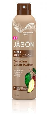 Buy Jason Natural, Lotion Sheer Spray Cocoa Butter, 6 oz at Herbal Bless Supplement Store