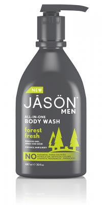 Buy Jason Natural, Men's All-In-One Body Wash Forest Fresh, 30 oz at Herbal Bless Supplement Store