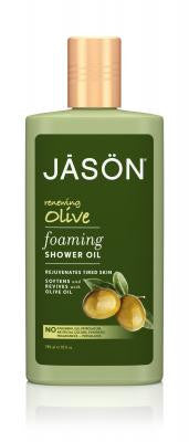 Buy Jason Natural, Renewing Olive Foaming Shower Oil, 10 oz at Herbal Bless Supplement Store