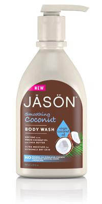 Buy Jason Natural, Smoothing Coconut Body Wash, 30 oz at Herbal Bless Supplement Store
