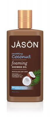 Buy Jason Natural, Smoothing Coconut Foaming Shower Oil, 10 oz at Herbal Bless Supplement Store