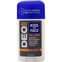 Buy Kiss My Face, Natural Man - Deodorant, Energizing Sport Scent 2.48 oz at Herbal Bless Supplement Store