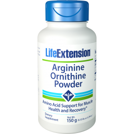 Buy Life Extension, Arginine Ornithine Powder, 150 g at Herbal Bless Supplement Store
