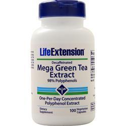 Buy Life Extension, Mega Green Tea Extract (Decaffeinated), 100 vcaps at Herbal Bless Supplement Store