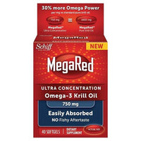 Buy MegaRed, High Concentration Omega - Krill Oil 750mg 40 ct. at Herbal Bless Supplement Store