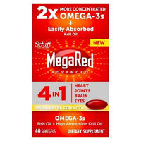 Buy MegaRed®, Extra Strength 900 mg Omega-3s Fish Oil + Krill Oil - Soft gels 40 at Herbal Bless Supplement Store