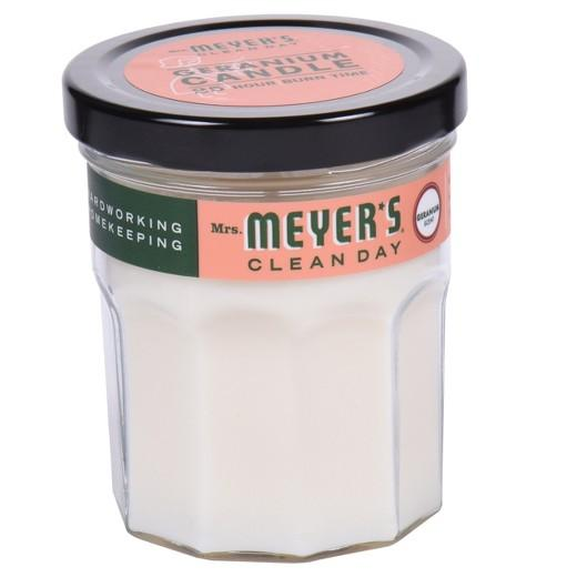Buy Mrs. Meyer's®, Clean Day Glass Candle Geranium 4.9oz at Herbal Bless Supplement Store