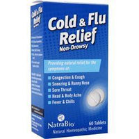 Buy Natrabio, Cold & Flu Relief, 60 tabs at Herbal Bless Supplement Store