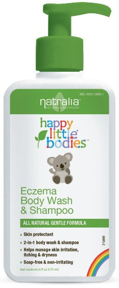 Buy Natralia, Happy Little Bodies Eczema Body Wash & Shampoo, 6 oz at Herbal Bless Supplement Store
