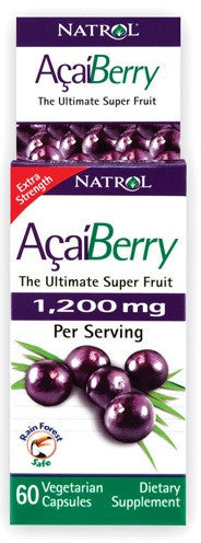 Buy Natrol, AcaiBerry Extra Strength 1200mg, 60 cap vegi at Herbal Bless Supplement Store