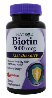 Buy Natrol, Biotin 5000mcg Fast Dissolve, 90 vegetarian tablet at Herbal Bless Supplement Store