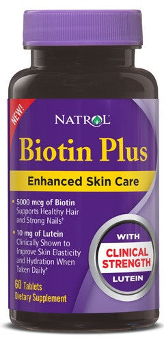Buy Natrol, Biotin with Lutein 5,00mcg + 10mg, 60 capsule at Herbal Bless Supplement Store