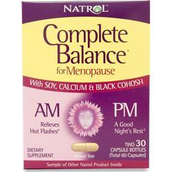 Buy Natrol, Complete Balance for Menopause AM/PM, 60 caps at Herbal Bless Supplement Store