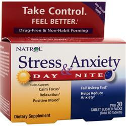 Buy Natrol, Stress and Anxiety Day and Night, 60 tabs at Herbal Bless Supplement Store