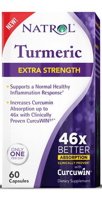 Buy Natrol, Turmeric - Extra Strength, 60 capsule at Herbal Bless Supplement Store
