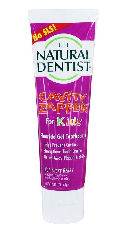 Buy Natural Dentist, For Kids - Cavity Zapper Fluoride Gel Toothpaste Berry Blast, 5 oz at Herbal Bless Supplement Store