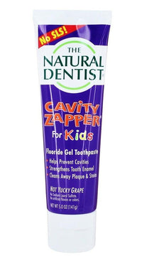 Buy Natural Dentist, For Kids - Cavity Zapper Fluoride Gel Toothpaste Groovy Grape, 5 oz at Herbal Bless Supplement Store