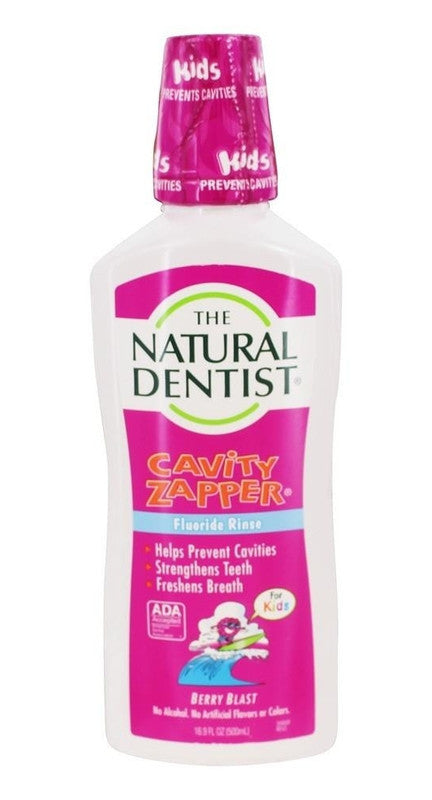 Buy Natural Dentist, For Kids - Cavity Zapper Fluoride Rinse Berry Blast, 16.9 oz at Herbal Bless Supplement Store