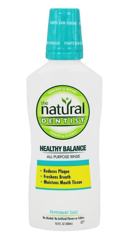 Buy Natural Dentist, Healthy Balance All-Purpose Mouth Rinse Peppermint Sage, 16.9 oz at Herbal Bless Supplement Store