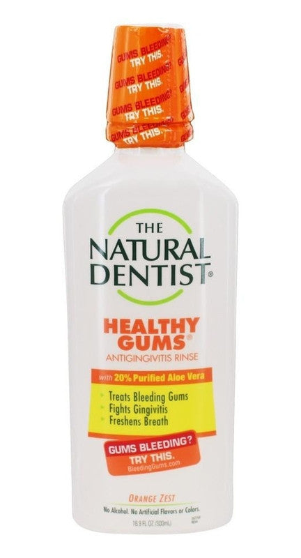 Buy Natural Dentist, Healthy Gums Antigingivitis Rinse Orange Zest, 16.9 oz at Herbal Bless Supplement Store