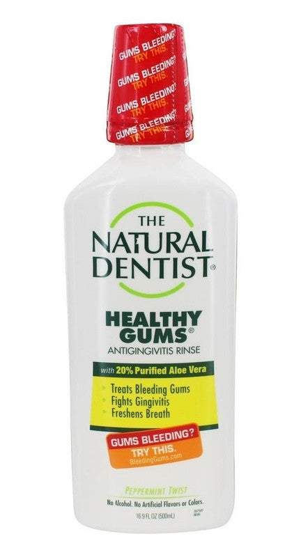 Buy Natural Dentist, Healthy Gums Antigingivitis Rinse Peppermint Twist, 16.9 oz at Herbal Bless Supplement Store