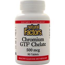 Buy Natural Factors, Chromium GTF Chelate (500mcg) 90 tabs at Herbal Bless Supplement Store