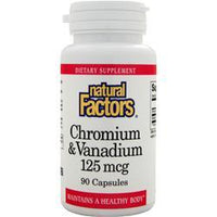Buy Natural Factors, Chromium & Vanadium (125mcg) 90 caps at Herbal Bless Supplement Store