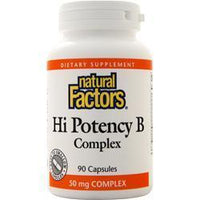 Buy Natural Factors, Hi Potency B Complex, 90 caps at Herbal Bless Supplement Store