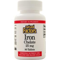 Buy Natural Factors Iron Chelate (25mg) 90 tabs at Herbal Bless Supplement Store