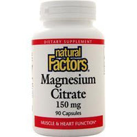 Buy Natural Factors Magnesium Citrate (150mg) 90 caps at Herbal Bless Supplement Store