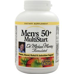 Buy Natural Factors Men's 50+ MultiStart, 120 tabs at Herbal Bless Supplement Store