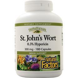 Buy Natural Factors, St. John's Wort Extract (300mg) 180 caps at Herbal Bless Supplement Store