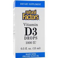 Buy Natural Factors, Vitamin D3 Drops (1000IU) .5 fl.oz at Herbal Bless Supplement Store